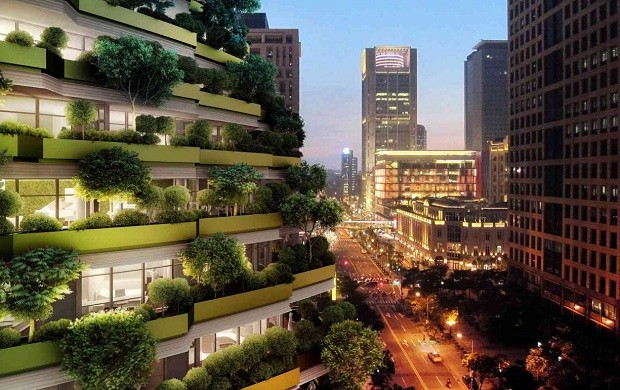 A área construída da Tao Zhu Yin Yuan Tower é de 42.335.34 m²  (Foto: Vincent Callebaut Architectures)