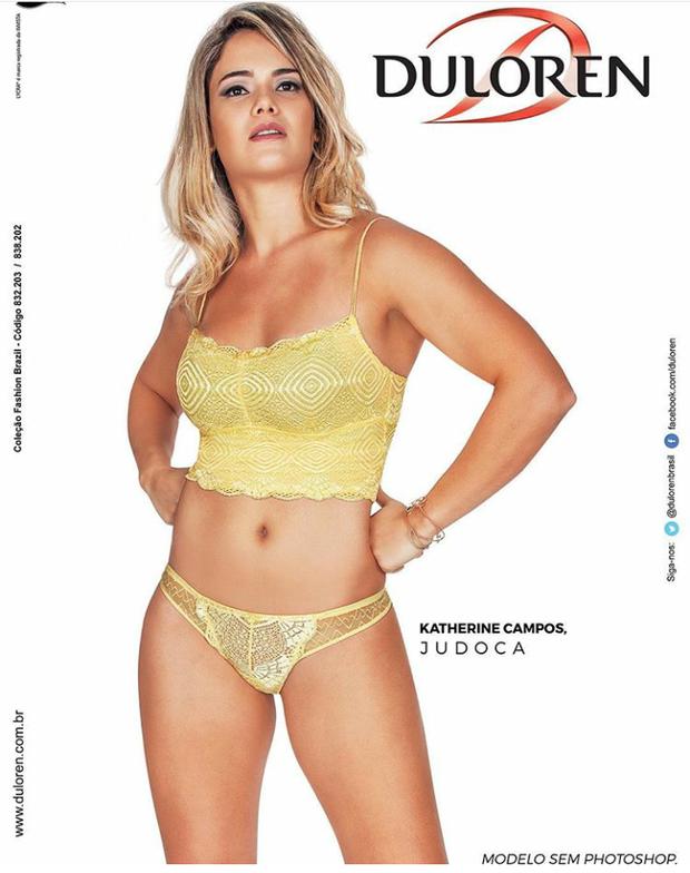 Katherine já foi garota propaganda de uma marca de lingerie (Foto: Reprodução / Instagram)