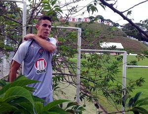Gabriel Paulista, zagueiro do Vitória, na Toca do Leão (Foto: Raphael Carneiro)