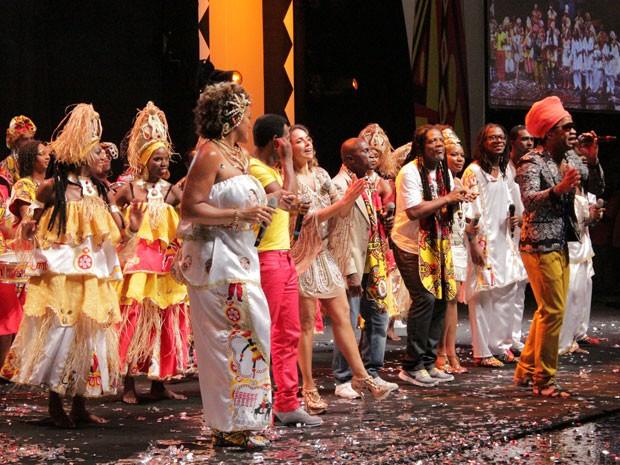 Ilê Aiyê gravação do DVD, em Salvador (Foto: Ida Sandes/G1 Bahia)