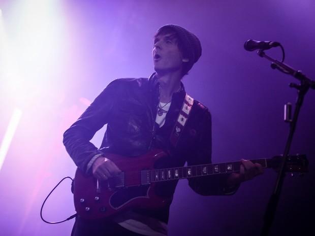 Pål Waaktaar, guitarrista do A-ha, no show no Espaço das Américas, em São Paulo (Foto: Fábio Tito/G1)