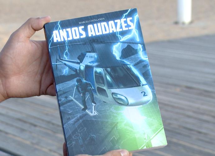 O livro possui mais de 200 páginas, apenas de histórias ligadas ao NOTAER (Foto: Divulgação/TV Gazeta)