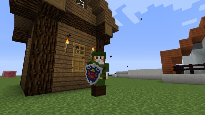 The Legend of Zelda entra no mundo de Minecraft com o mod Zelda Sword Skills (Foto: Reprodução/Planet Minecraft)
