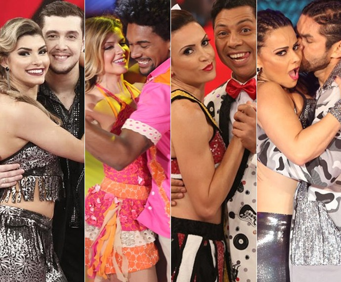 No grupo B estão Bruno Boncini, Mariana Santos, Maurren Maggi e Viviane Araújo (Foto: Carol Caminha / Gshow)