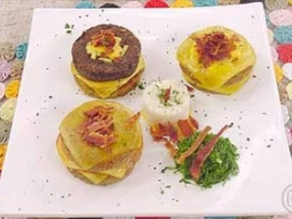 Hambúrguer de feijão (Foto: Foto: TV Globo)