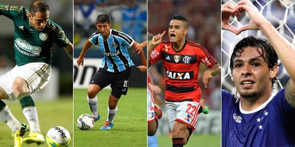 Palmeiras, Grêmio, Flamengo e Cruzeiro jogam a última rodada do Brasileirão antes da pausa para a Copa (Foto: globoesporte.com)