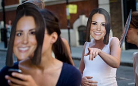 Mascaradas de Kate Middleton fazem graça na maternidade St. Mary's