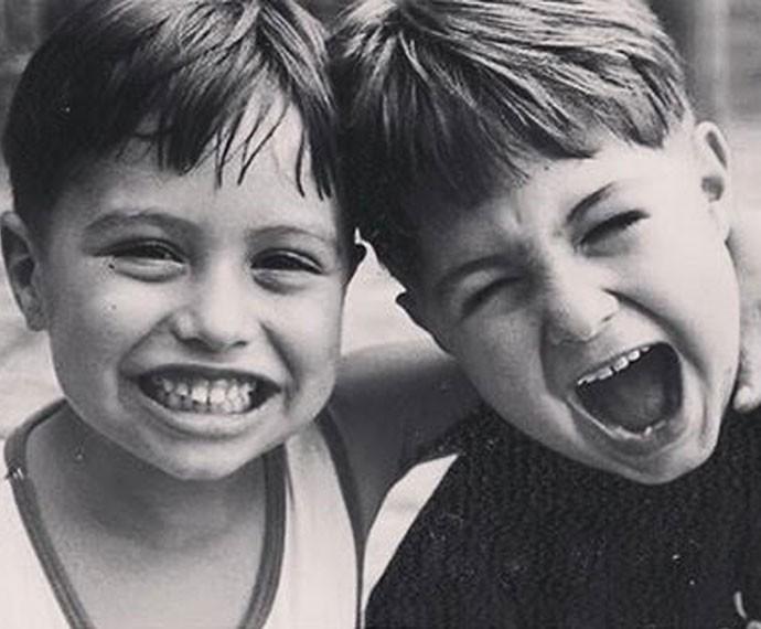 Fofos! Chico e Rafa são unidos desde pequenos (Foto: Arquivo pessoal)
