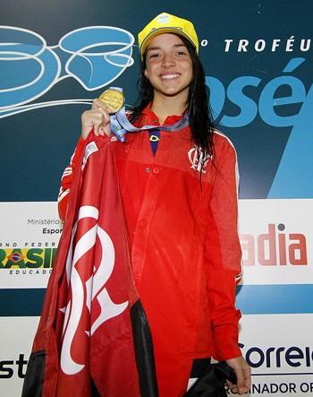 Jhennifer Conceição Flamengo natação (Foto: Satiro Sodré / SSPress)