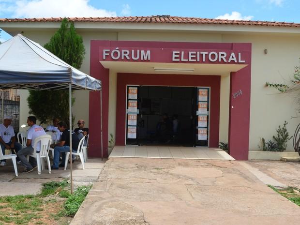 De 28 de março a 1° de abril, o fórum  de Cacoal fará a semana de atendimento para o Jovem Eleitor. (Foto: Magda Oliveira/G1)