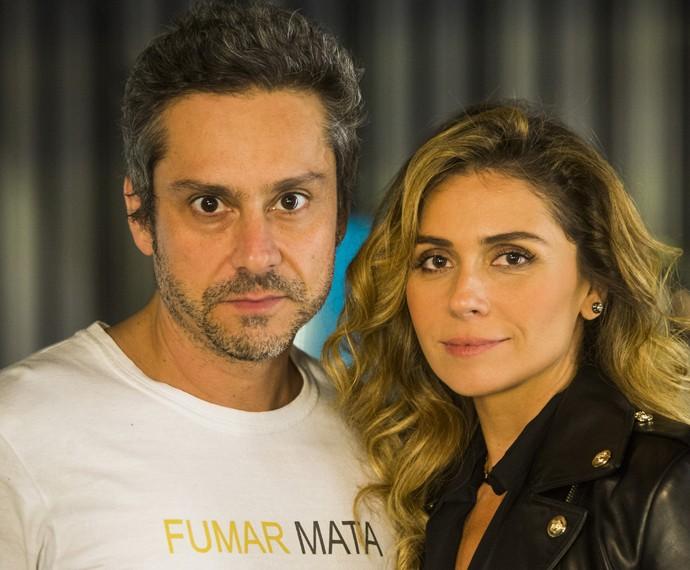 Giovanna Antonelli diz que se diverte nas cenas com Alexandre Nero (Foto: Globo/João Miguel Júnior)