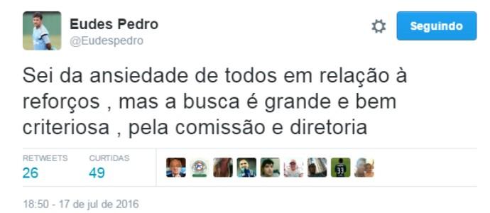 Eudes Pedro auxiliar Palmeiras (Foto: Reprodução/Twitter)