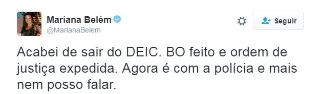 Mariana Belém  (Foto: Twitter / Reprodução)