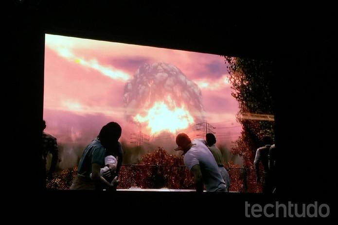 Fallout 4 começa depois que uma bomba cai e destrói quase todo mundo (Foto: Viviane Werneck/TechTudo)