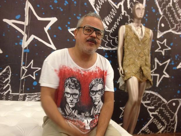 Estilista Ronaldo Fraga participou de evento de moda em Macapá (Foto: Abinoan Santiago/G1)
