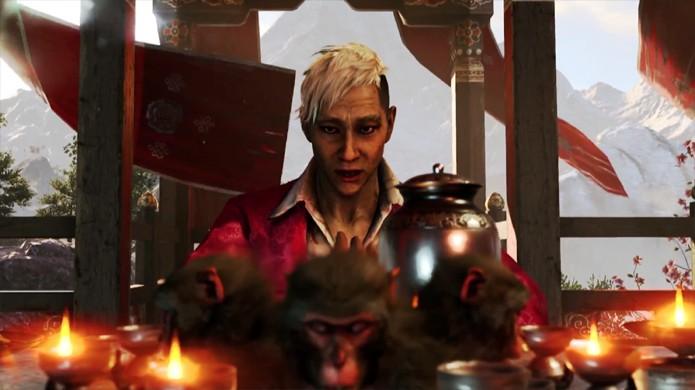 Pagan Min promete ser um vilão marcante em Far Cry 4 (Foto: Reprodução: YouTube)