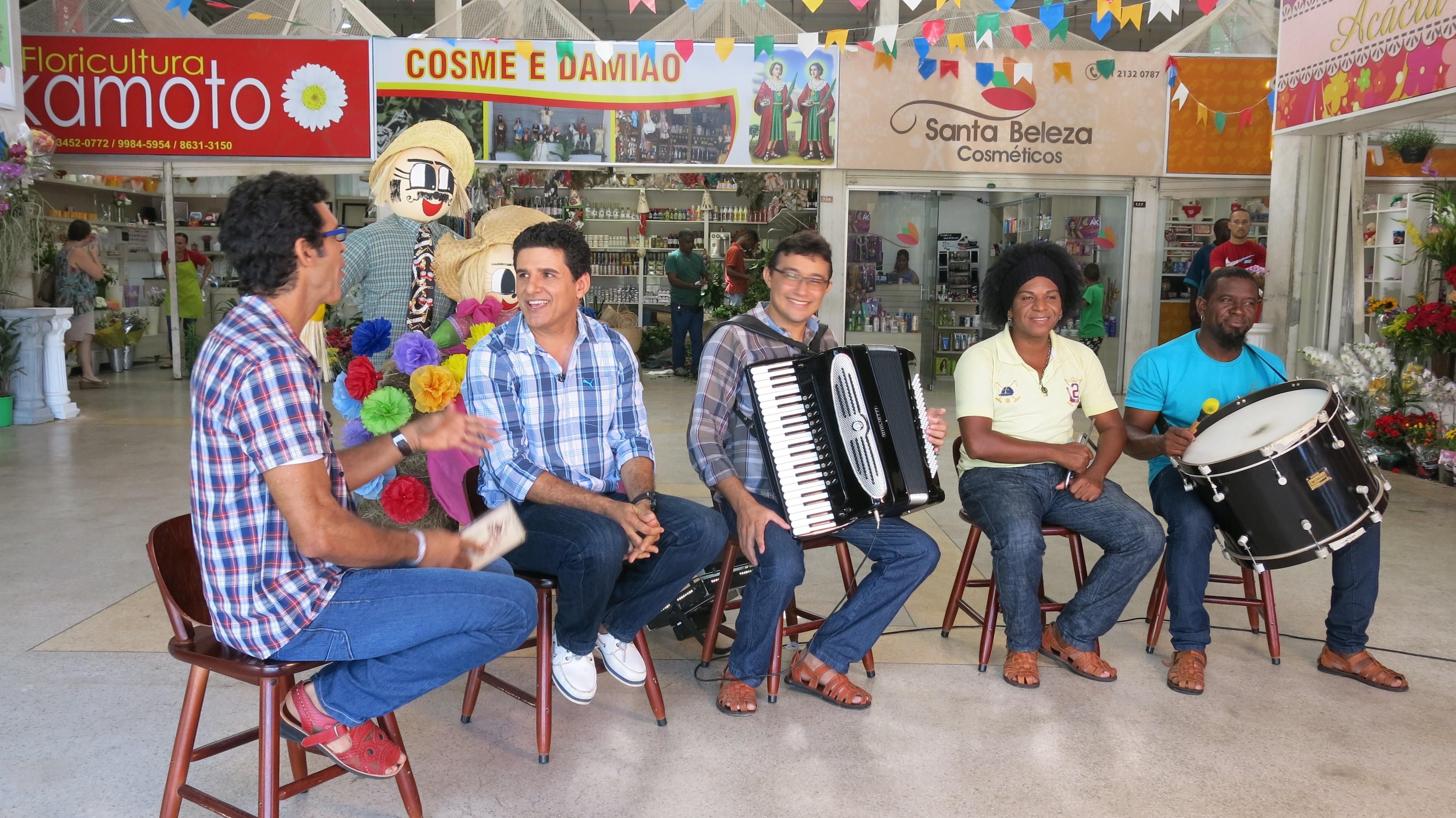 Jackson Costa conversou com o forrozeiro Del Feliz (Foto: Divulgação)