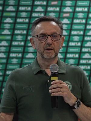 Plínio David de Nês Maninho Chapecoense presidente (Foto: Sirli Freitas/Chapecoense)