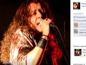 Cantor e compositor Percy Weiss, ex-integrante da banda Made in Brazil, morava em Campinas (Foto: Reprodução/ Facebook)