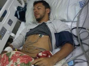 Bruno ficou internado por 21 dias, seis deles em coma (Foto: Reprodução / Arquivo Pessoal)
