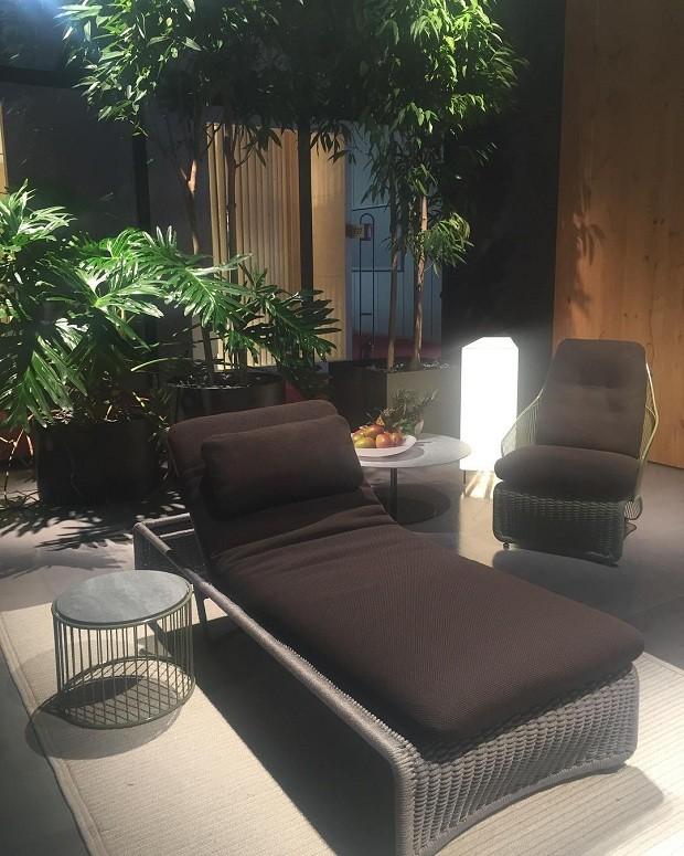 O designer Rodolfo Dordoni investe mais uma vez em peças de outdoor para a marca Minotti (Foto: Stephanie Durante/Editora Globo)