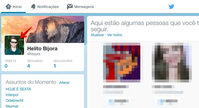 Acesse o seu perfil no Twitter (Foto: Reprodução/Helito Bijora)