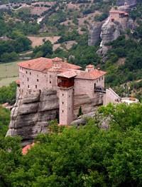 Monastério de Rousanou, em Meteora (Foto: Dennis Jarvis/Creative Commons)