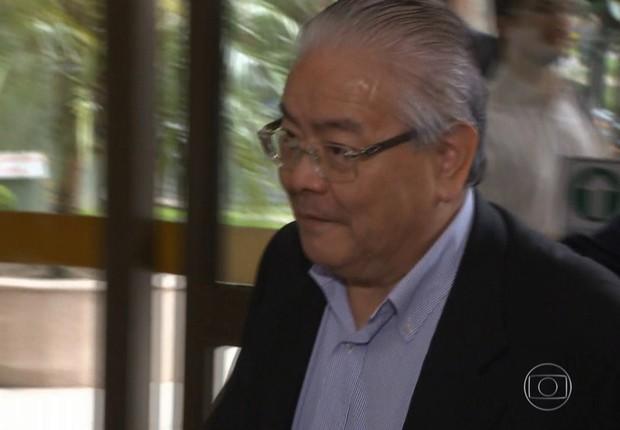 O engenheiro Shinko Nakandakari, delator da Operação Lava Jato (Foto: Reprodução/TV Globo)