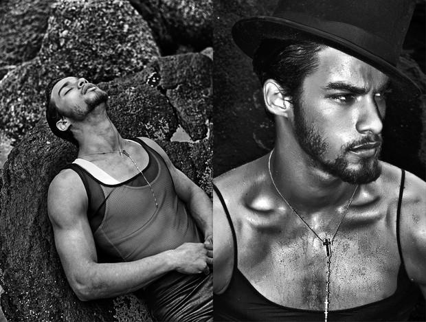 Pablo Morais posa para capa de revista (Foto: Bria Haider)