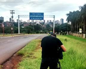 Making of reportagem Ferroviária em Araraquara