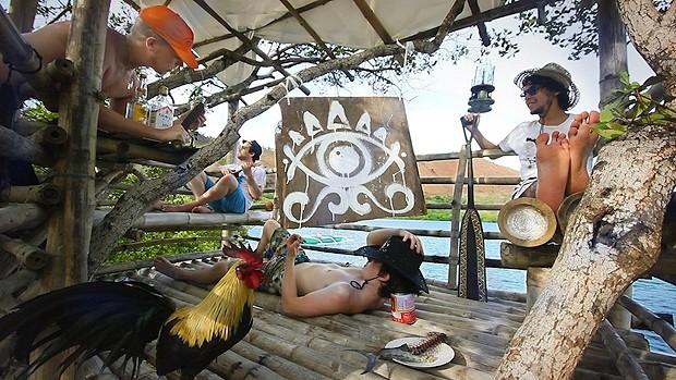 Jovens criativos aproveitam a hospedagem (Foto: Divulgação)