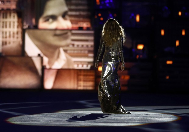 Gisele Bündchen na cerimônia de abertura da Olimpíada Rio 2016 (Foto: Reuters)
