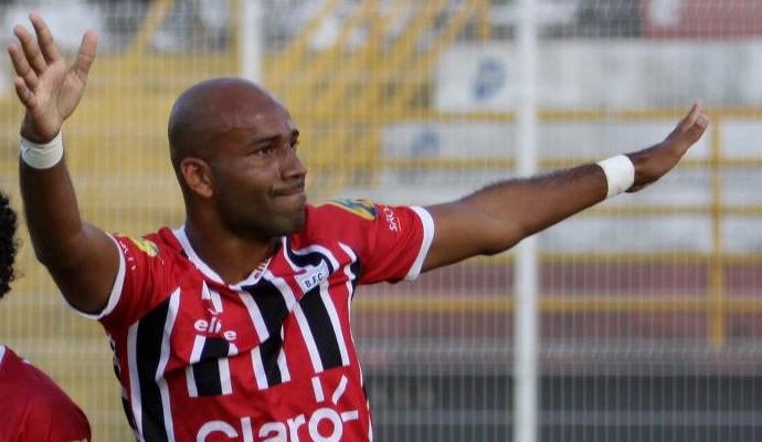 Nunes, atacante Botafogo-SP (Foto: Rogério Moroti/Agência Botafogo)