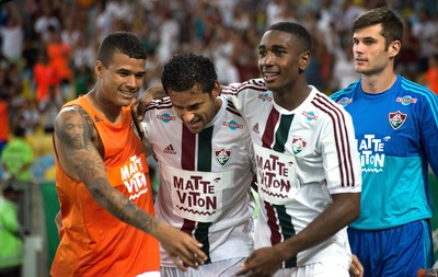 Kenedy, Fred e Gerson, Fluminense X Botafogo (Foto: Bruno Haddad / Fluminense)