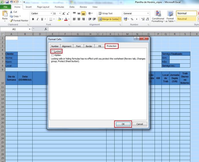 Como bloquear células individuais em uma planilha do Excel