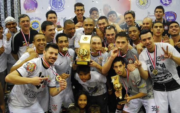 Corinthians campeão Liga Paulista de Futsal (Foto: Marcos Guerra)