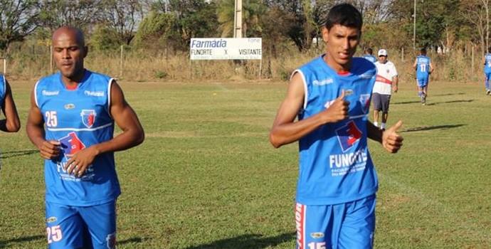 Rômulo e Léo Andrade treinam forte para enfrentar o Valério (Foto: Cid Bruno/Assessoria Funorte)