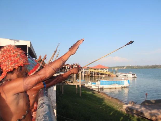 Índios abençoam o Tapajós e prometem resistir a barragens (Foto: Helena Palmquist - Ascom MPF/PA)
