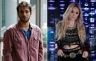 Davi impedirá que Megan seja agarrada por Vander (Foto: Fábio Rocha e Felipe Monteiro/TV Globo)
