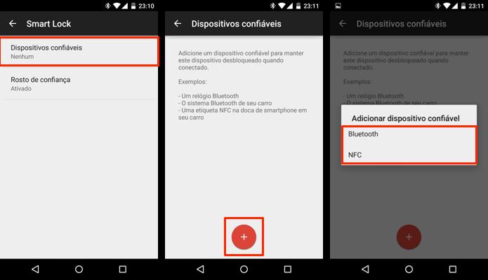 Adicione um dispositivo Bluetooth para manter o celular desbloqueado (Foto: Reprodução/Paulo Alves)