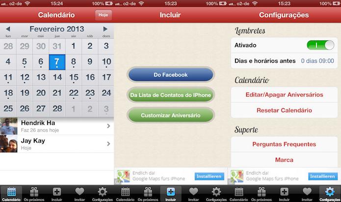 Calendário de Aniversário te ajuda a não esquecer as datas (Foto: Divulgação/AppStore)