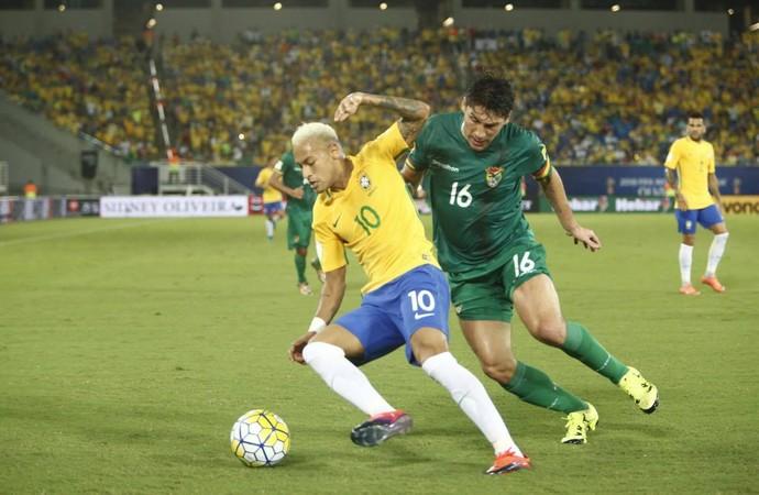 Neymar Brasil x Bolívia (Foto: Alexandre Lago/GloboEsporte.com)