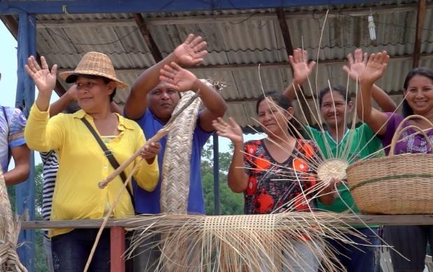 Comunidade São José do Limão mostra sua arte feita com produtos da natureza (Foto: Amazônia Rural)