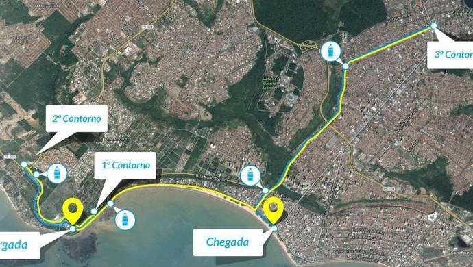 Meia Maratona Cabo Branco, percurso de 21km (Foto: Divulgação)