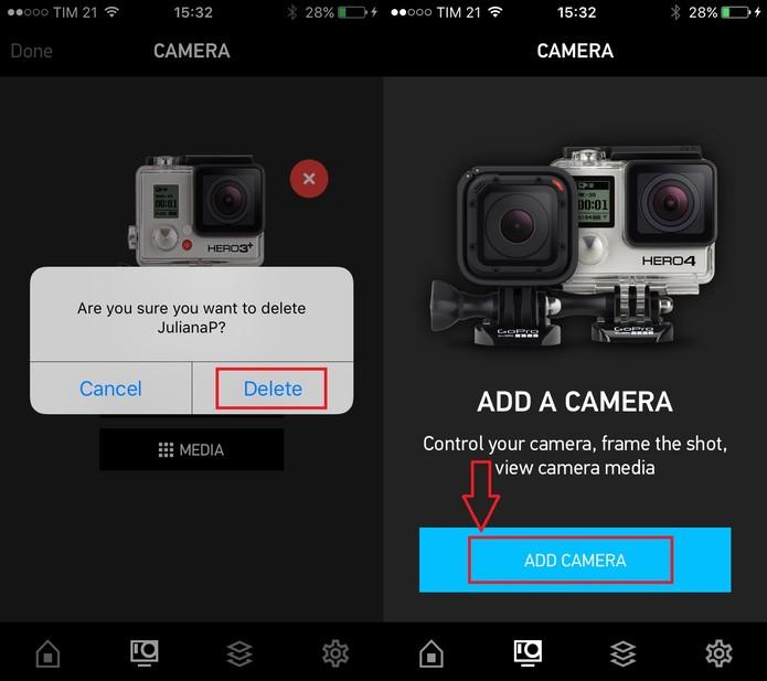 Confirme a exclusão e adicione novamente sua GoPro (Foto: Reprodução/Juliana Pixinine)