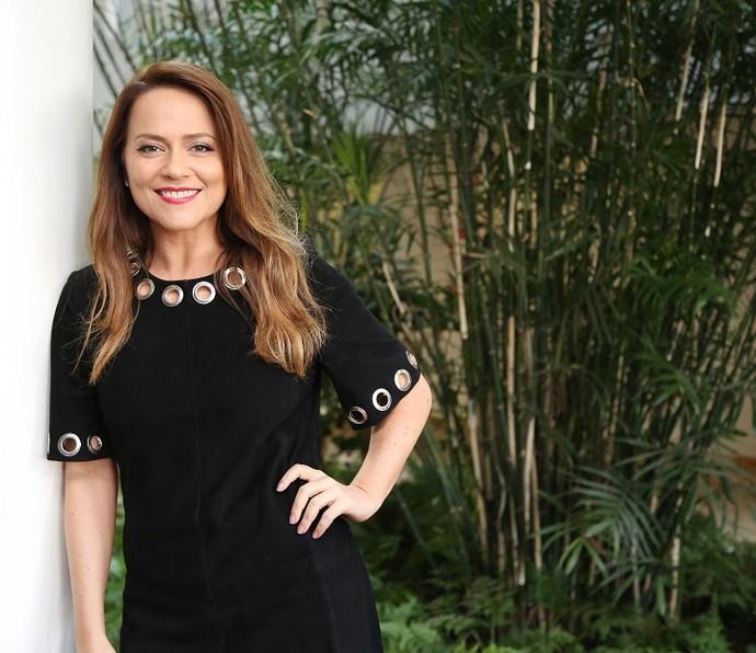 Vivianne Pasmanter nos bastidores do 'Altas Horas' (Foto: Carol Caminha/Gshow)