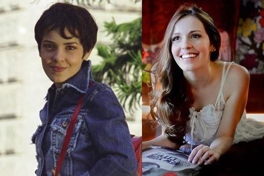Camila dos Anjos em 'Sandy & Junior' e atualmente (Foto: Reprodução / Divulgação)