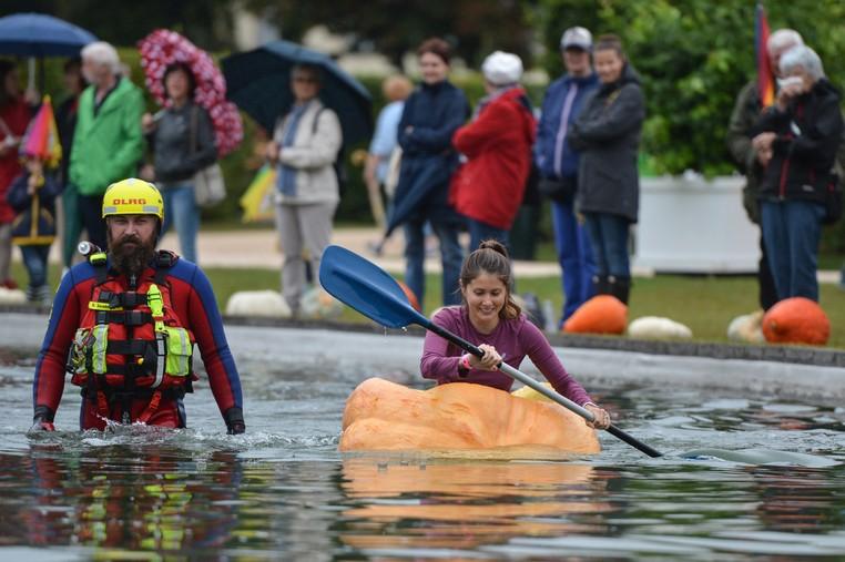 Competidores tinham que completar uma distância de 72 metros (Foto: Silas Stein/DPA/AFP )