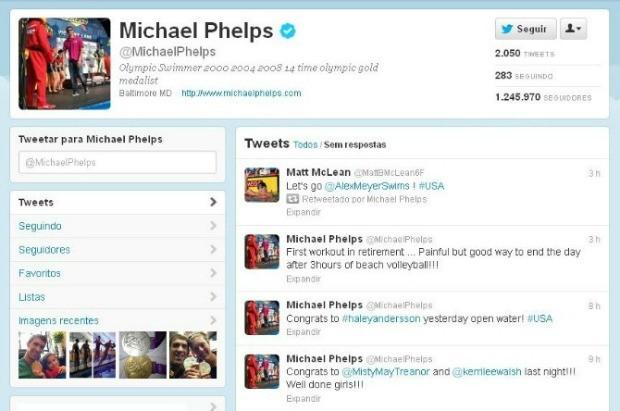 A popularidade de Michael Phelps foi a que mais cresceu durante os Jogos (Foto: Reprodução / Twitter)