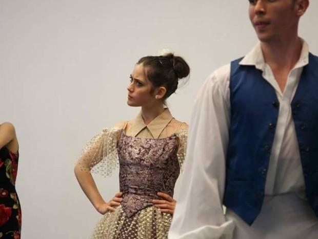 Lucila atuou como a convidada no ballet da Cinderella (Foto: Lucila Munaretto/Arquivo Pessoal)